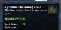 A pristine elm dining chair