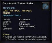 Geo-Arcanic Tremor Stake