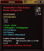 Windwalker's Dark Eclipse Bands of Regrowth
