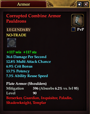 Corrupted Combine Armor Pauldrons