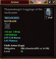 Thaumaturge's Leggings of the Archcaster