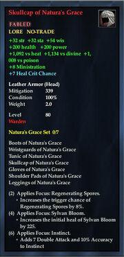 Skullcap of Naturas Grace