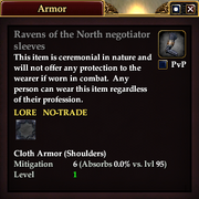 Ravens of the North negotiator sleeves