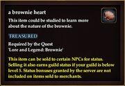 A brownie heart