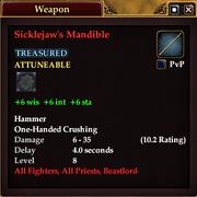 Sicklejaw's Mandible