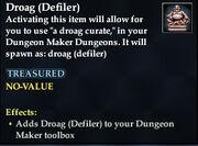 Droag (Defiler)