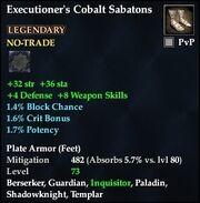 Executioner's Cobalt Sabatons