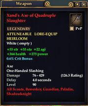 Xand's Axe of Quadruple Slaughter