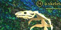 A skeletal cobra
