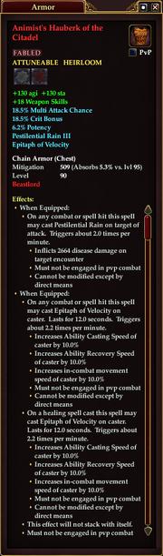 Animist's Hauberk of the Citadel