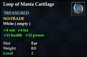 Loop of Manta Cartilage