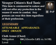 Vesspyr Citizen's Red Tunic