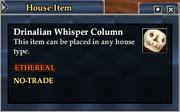 Drinalian Whisper Column