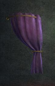 Purple Velvet Curtain Right Placed