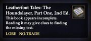 Leatherfoot Tales The Houndslayer, Part One, 2nd Ed.