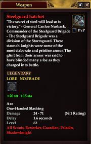 Steelguard hatchet