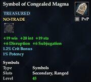 Symbol of Congealed Magma