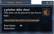 A pristine alder chest