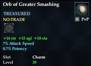 Orb of Greater Smashing