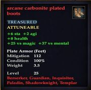 Arcane carbonite plated boots
