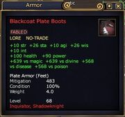 Blackcoat plate boots