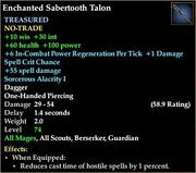 Enchanted Sabertooth Talon