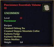 Provisioner Essentials Volume 22