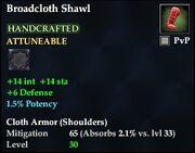 Broadcloth Shawl