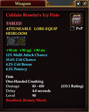 Coldain Brawler's Icy Fists