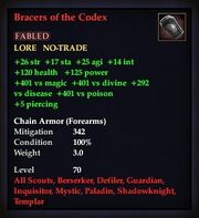Bracers of the Codex