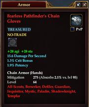 Fearless Pathfinder's Chain Gloves
