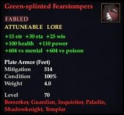 Green-splinted Fearstompers