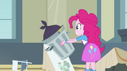 Pinkie Pie holding a garbage can EG