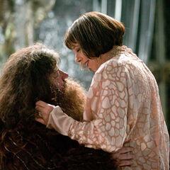 Hagrid y Madame Maxime
