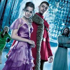 Hermione, Viktor, Karkarov y Rita