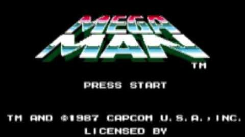 Mega Man (1987) - Pantalla de Título