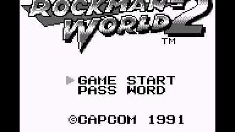 Rockman World 2 - Pantalla de Título