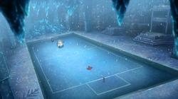 Campo de batalla del Gimnasio de Fractal en el anime