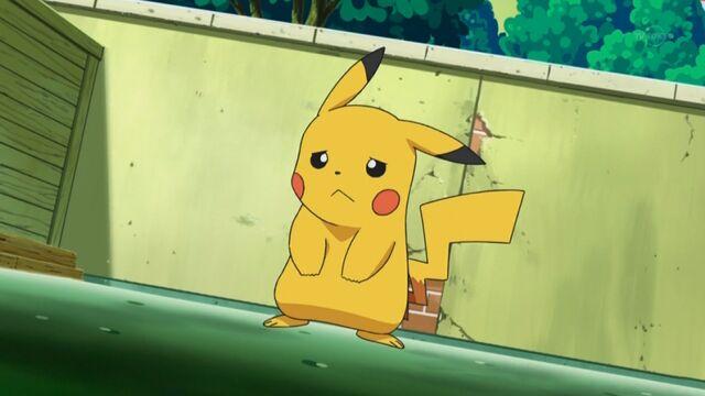 Archivo:EP661 Pikachu triste por no poder usar ataques eléctricos.jpg