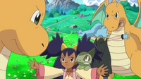 EP798 Dragonite de Iris enfrentado con el Dragonite de Débora