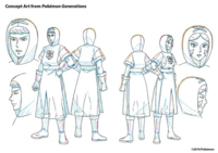 Concept Art de Pokémon Generations de reclutas del equipo Plasma