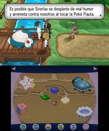 Snorlax bloqueando el camino en Pokémon X y Pokémon Y