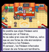 Enfermara Joy notificandote sobre pokerus en DPPL