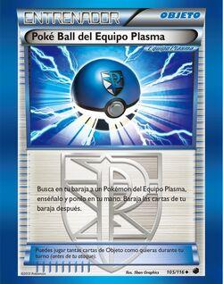 Carta Poké Ball del Equipo Plasma