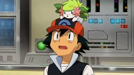 Archivo:P11 Ash con Shaymin encima de su gorra.png