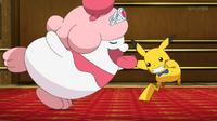 EP908 Slurpuff bailando con Pikachu