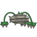 Imagen posterior de Ferrothorn en la sexta generación