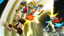 Keldeo usando sable místico SSB4 Wii U