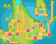 Lago Agudeza mapa