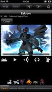 Pokédex for iOS (iPhone) Zekrom